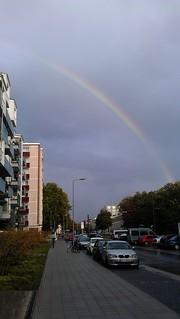 Regenbogen in der Hermann-Billing-Straße Karlsruhe