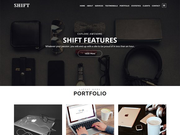 Shift v1.0.0 – Parallax WordPress Theme