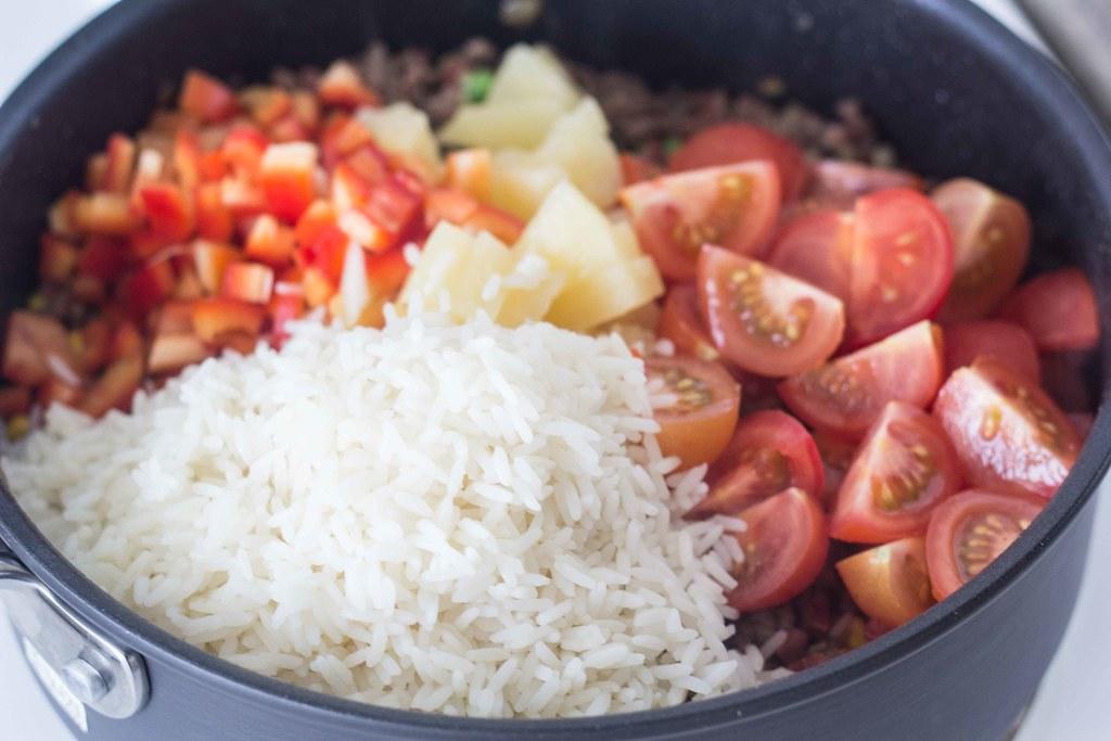 Risret med oksekød og ananas (10)