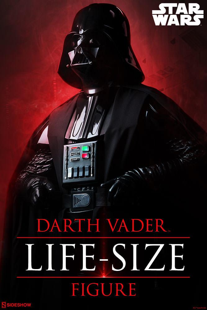 「大量官圖&新增販售資訊」家裡有這個就太狂拉!!!Sideshow「黑武士達斯維達」Darth Vader™ Life-Size Figure超震撼現身!