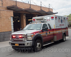 FDNY Ambulance, Bathgate, New York City