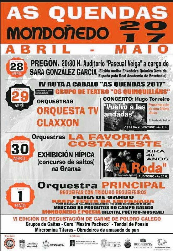 Mondoñedo 2017 - As Quendas - cartel