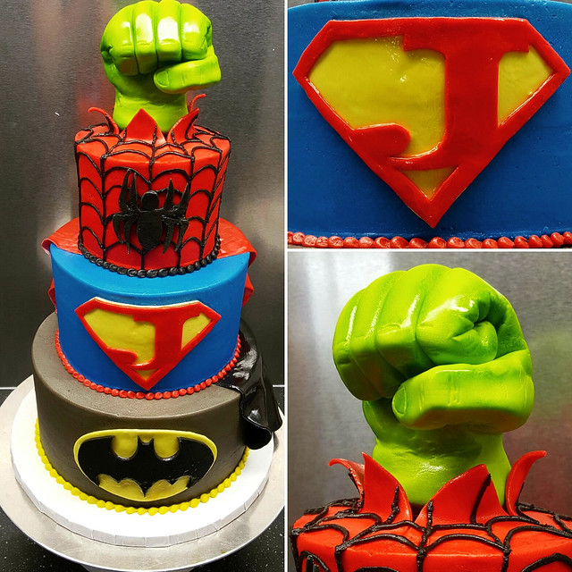 Super Hero Cake by Nicole Fordyce of The Cake Stand
