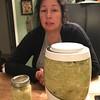 Homemade sauerkraut. Not Melanie's favorite. — Choucroute maison. Pas la patente préférée de Mélanie.