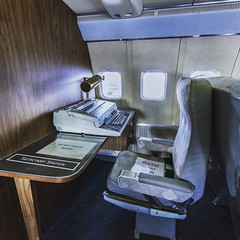 #Secretary Station on the very first #AirForce One built by #Boeing in #1959  _ _ _ _ #seattle_igers #igers_seattle #airplane #planes #planespotting #jets #militaryplane #Seattle #museum #mytinyatlas #airplaneporn #airplanes #jets #jet #potus #MuseumOfFli