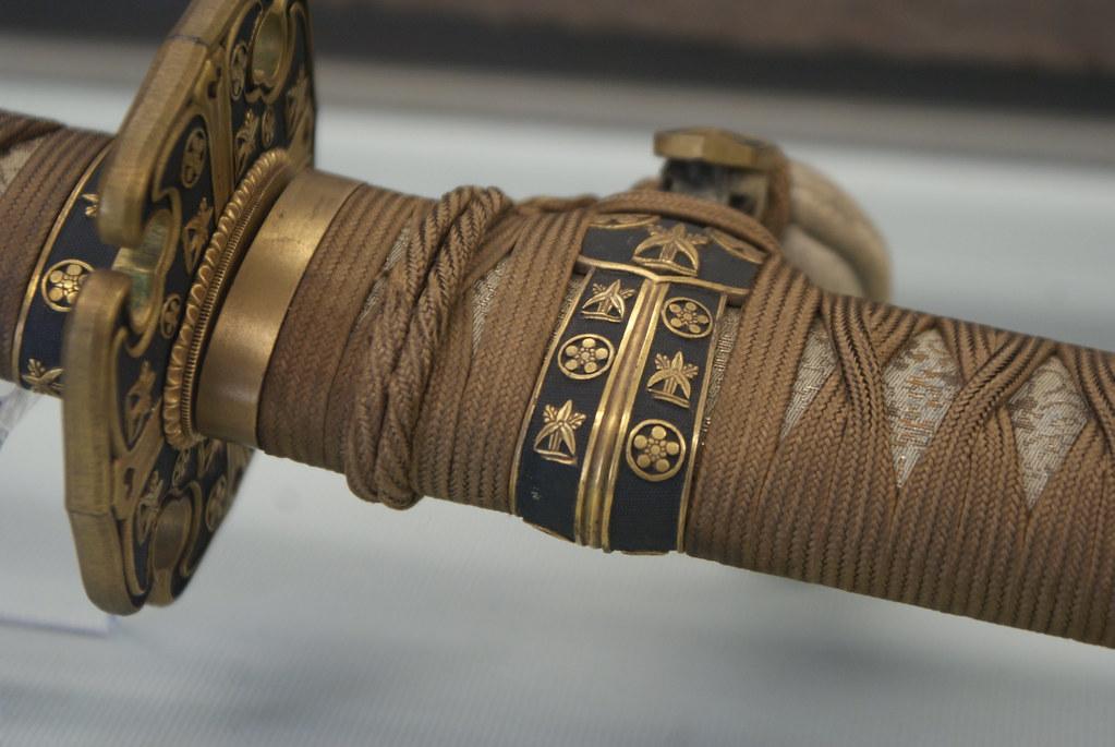 Un Katana, le celèbre sabre japonais au musée Chiossone de Gênes.