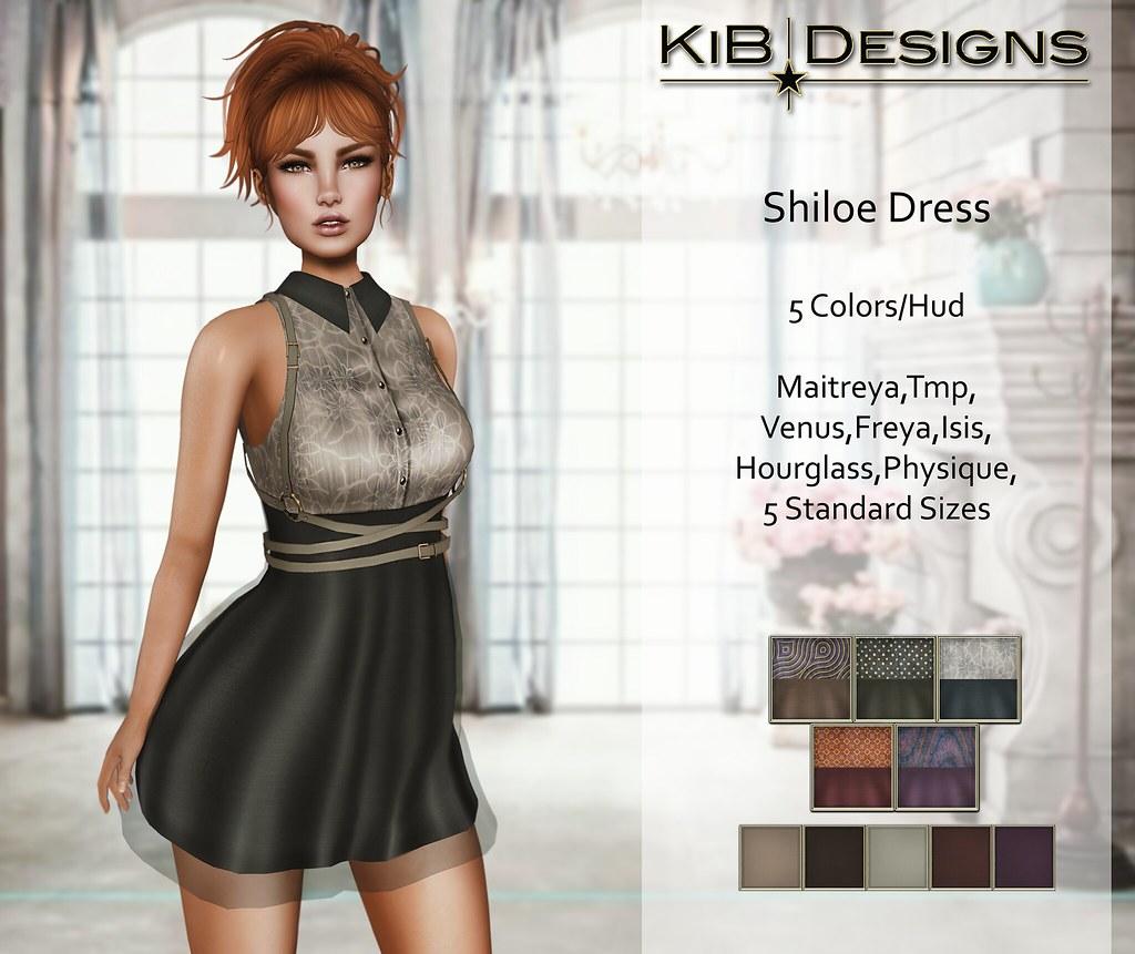 KiB Designs - Shiloe Dress w. Straps for Designer Showcase - SecondLifeHub.com