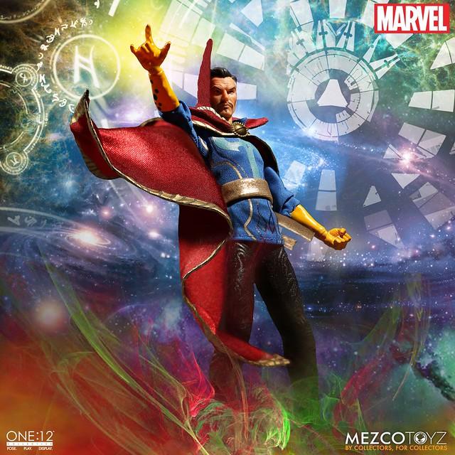 MEZCO – ONE:12 COLLECTIVE 系列【奇異博士】MARVEL Dr. Strange 1/12 比例人偶作品  可以元神出竅喔~~