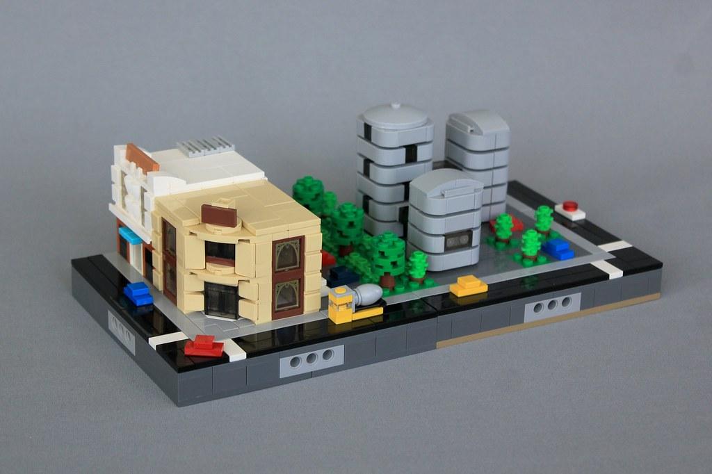Micropolis City Block (custom built Lego model)