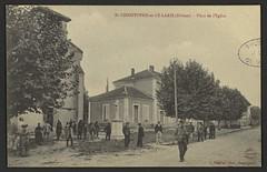 St-Chrisophe-et-le-laris (Drôme) - Place de l'Eglise