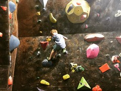 Bouldering with the boo
