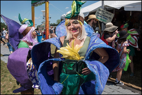 Krewe des Fleurs at the Mardi Gras arts area at Jazz Fest day 6 on May 6, 2017. Photo by Ryan Hodgson-Rigsbee www.rhrphoto.com