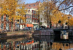 The Kloveniersburgwal Canal in Amsterdam, The Netherlands
