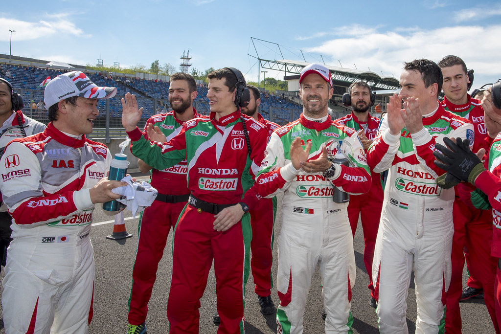 MAC 3 MICHELISZ Norbert (hun), Honda Civic team Castrol Honda WTC, ambiance portrait MICHIGAMI Ryo (jpn), Honda Civic team Honda racing team Jas, ambiance portrait MONTEIRO Tiago (prt), Honda Civic team Castrol Honda WTC, ambiance portrait   during the 2017 FIA WTCC World Touring Car Race of Hungary at hungaroring, Budapest from may 12 to 14 - Photo Frederic Le Floc'h / DPPI