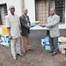 Goma, North Kivu, DR Congo: Within the framework of the project of capacity building for operational courts and Prosecutor's offices in the province of Goma, the Chief of the justice support and prison administration of MONUSCO has presented hardware and