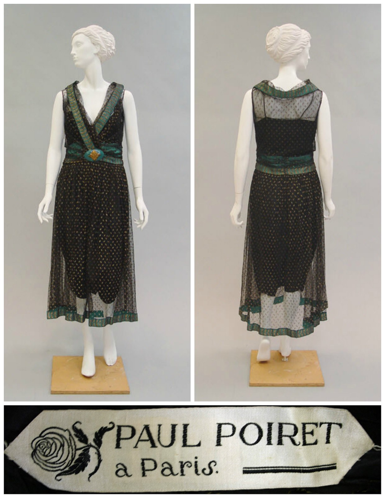 1927 Evening Dress. Paul Poiret. Silk, metal, plastic