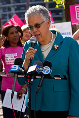 Cook County Board President Toni Preckwinkle Protesting Trumpcare Chicago 5-11-17 6270