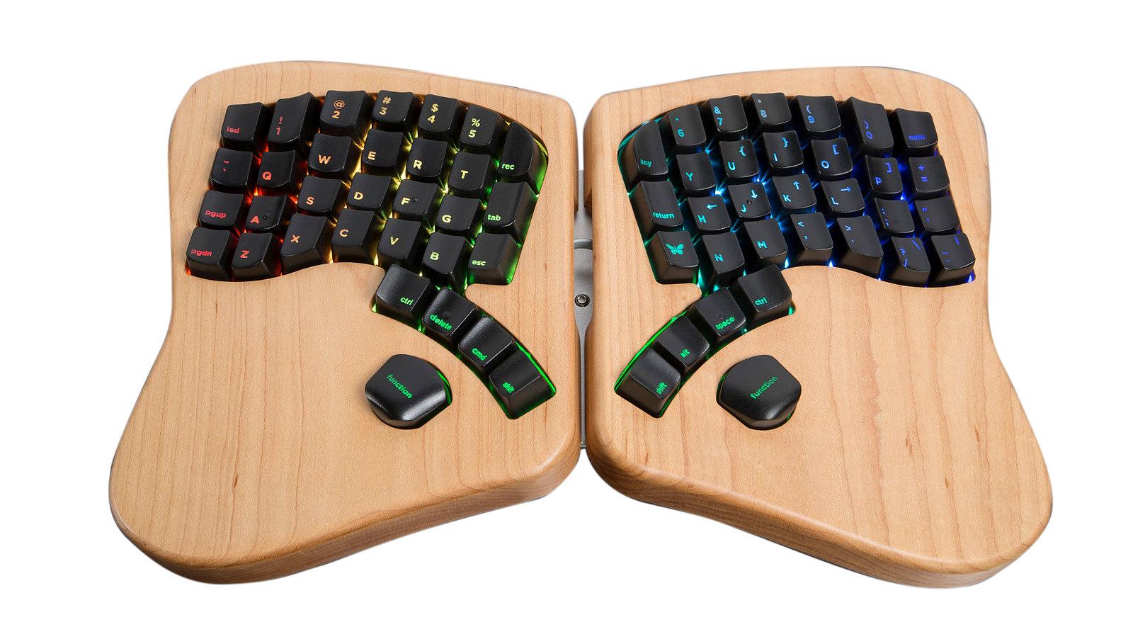 Keyboardio, a fancy split keyboard with an isometric layout