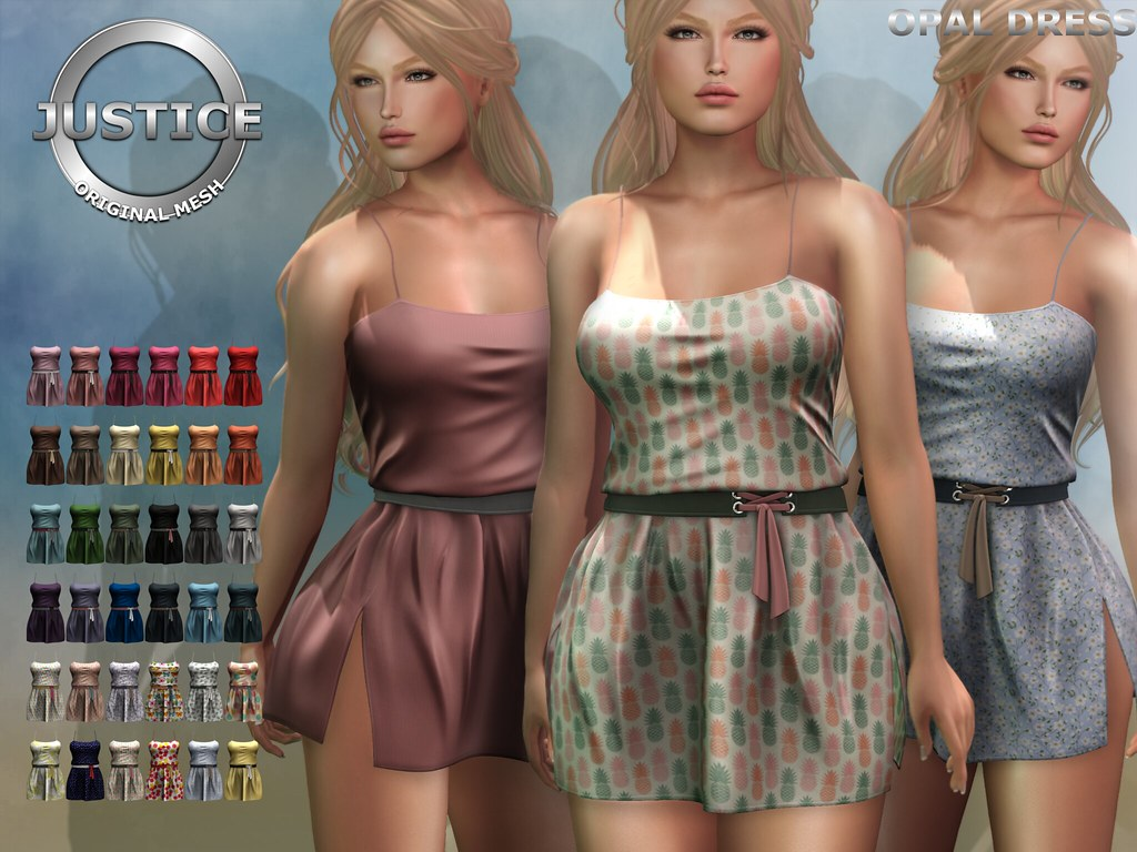 JUSTICE OPAL DRESS FATPACK - SecondLifeHub.com