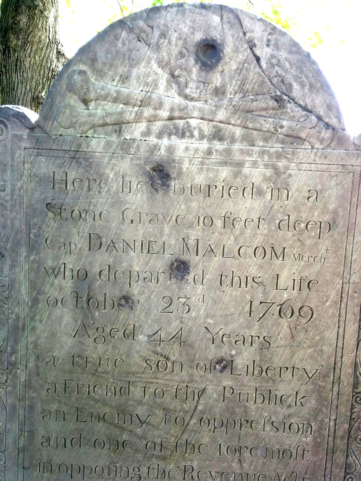 Daniel Martin gravestone, Copp's Hill Burial Ground