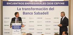 10/5/2017 Encuentro Empresarial CEOE CEPYME con Jaime Guardiola, consejero delegado del Banco Sabadell