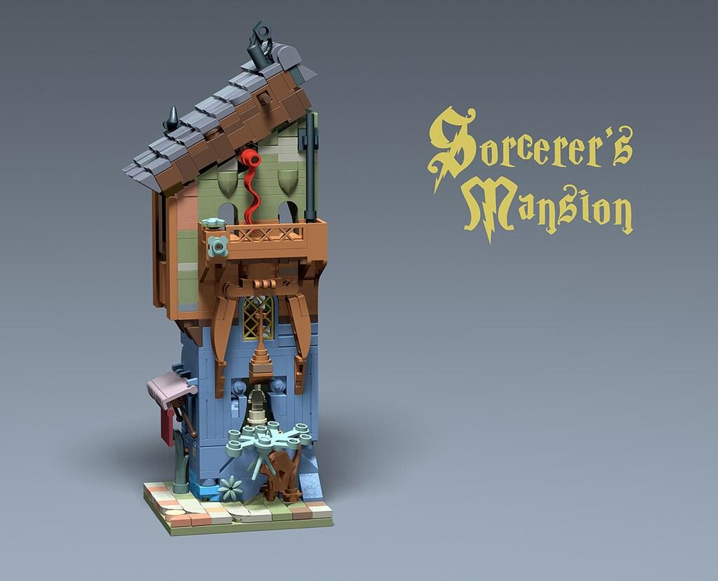 Sorcerer's Mansion (custom built Lego model)