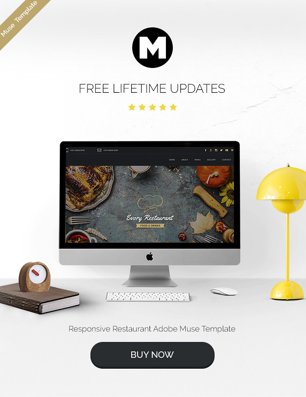 Evory - Responsive Restaurant Adobe Muse Template - 6
