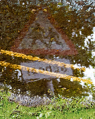 Puddle school sign