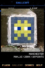 MAN_16 , Invader, Flash Invaders, street art Manchester