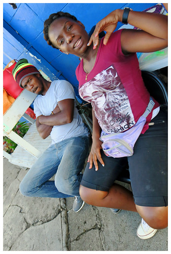stgeorge grenada island caribbean streetvendors streetportrait walkby couple people outside city canon5d