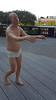 Wanderlust exhibition at the High Line, NYC: Sleepwalker by Tony Matelli