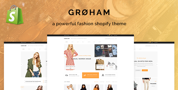 Groham v1.0 - Fashion eCommerce Shopify Theme