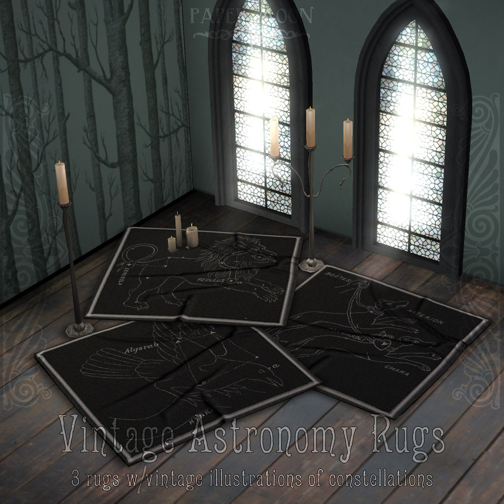 *pm* Vintage Astronomy Rugs advert - SecondLifeHub.com