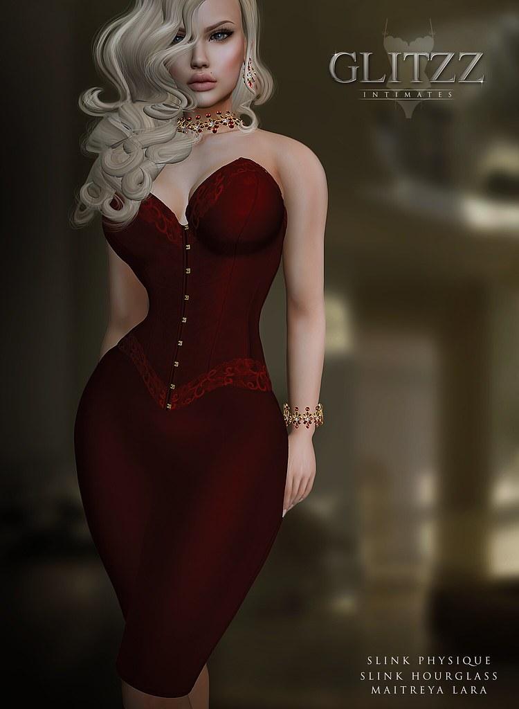 [Glitzz] Sheer Corset and Skirt - SecondLifeHub.com