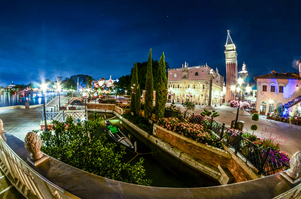 Italy canal night Epcot