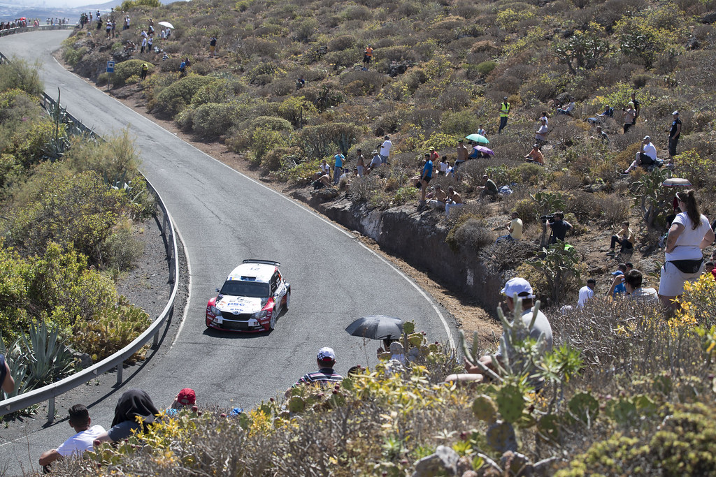 21 TLUSTAK Antonin (CZE), VYBIRA Ivo (CZE), Skoda Fabia R5, Action during the 2017 European Rally Championship ERC Rally Islas Canarias, El Corte Inglés,  from May 4 to 6, at Las Palmas, Spain - Photo Gregory Lenormand / DPPI