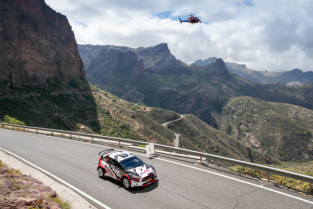 06 KAJETANOWICZ Kajetan (POL),  BARAN Jaroslaw (Pol), Ford Fiesta R5 Action during the 2017 European Rally Championship ERC Rally Islas Canarias, El Corte Inglés,  from May 4 to 6, at Las Palmas, Spain - Photo Alexandre Guillaumot / DPPI
