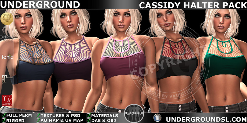 UG MESH CASSIDY HALTER PACK MP - SecondLifeHub.com
