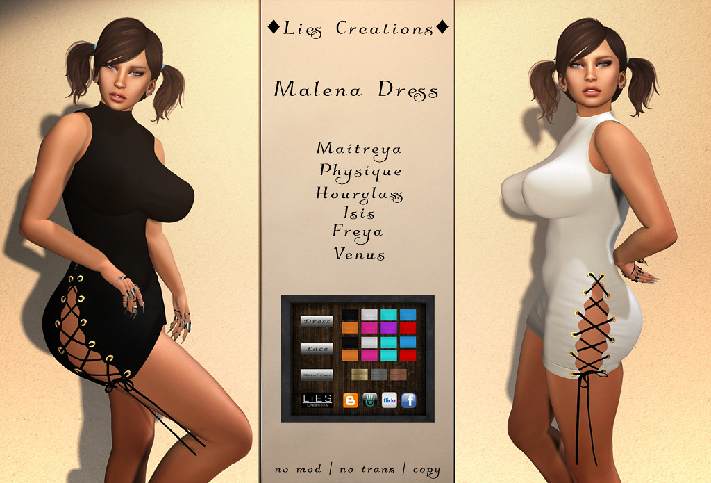 malena dress - SecondLifeHub.com