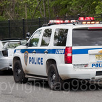 Port Authority Police Offcer with Patrol Vehicle, Bloomfield, Staten Island, New York City
