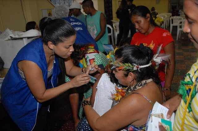 17.05.16 Atendimento a indígenas venezuelanos terá posto permanente de atendimento no terminal rodoviário