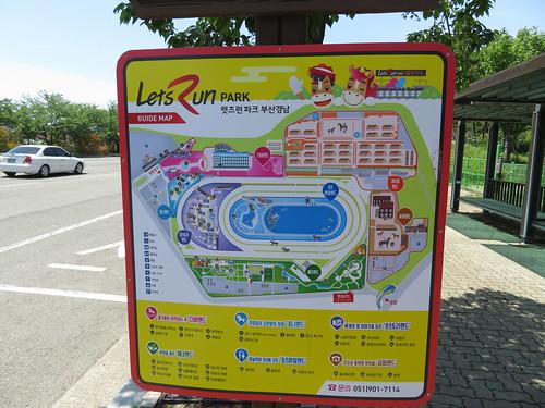 釜山慶南競馬場の案内図