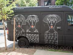Hand Painted Sprinter Van by Sara Erenthal, Bushwick, Brooklyn, New York City