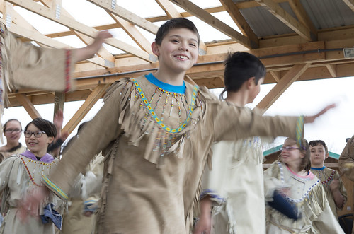 The Jabila'ina Dancers perform during the opening of the net on May 1.