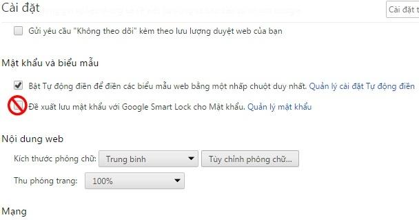 Hướng dẫn tắt yêu cầu lưu mật khẩu trên Google Chrome - Cách tắt thông báo lưu mật khẩu trên Chrome