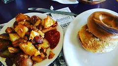 Breakfast without Tony. It wasn't as good as toast #breakfast #atealone