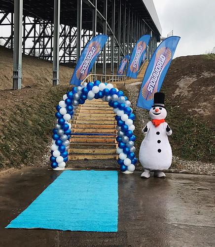 100mm blauw lint onbedrukt Snowworld Zoetermeer