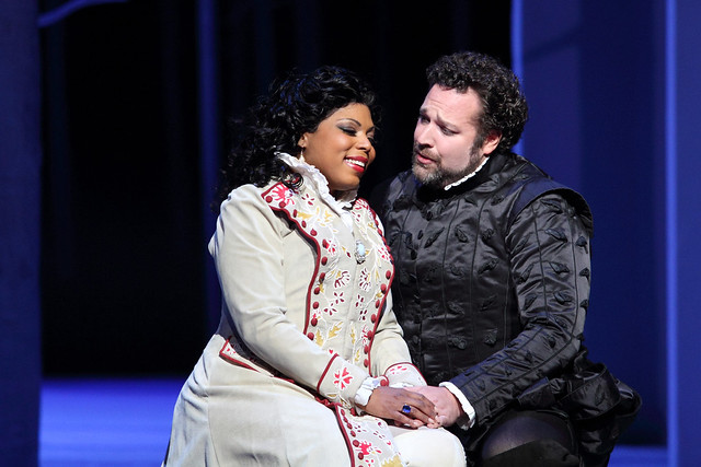 Kristin Lewis and Bryan Hymel in Don Carlo (C) 2017 ROH. Photograph by Catherine Ashmore