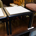 Small square table black and tile E25