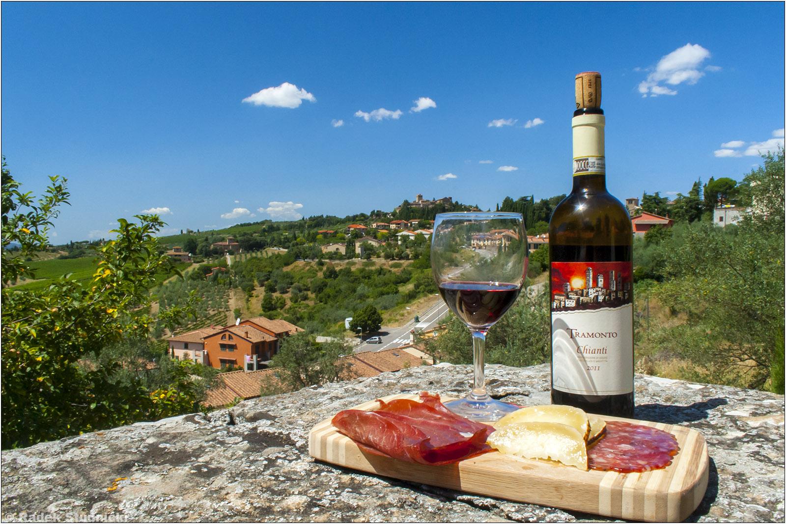 Wino Chianti i Toskania